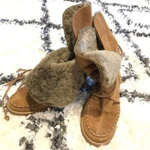 Furry Jack Rogers Suede Boots
